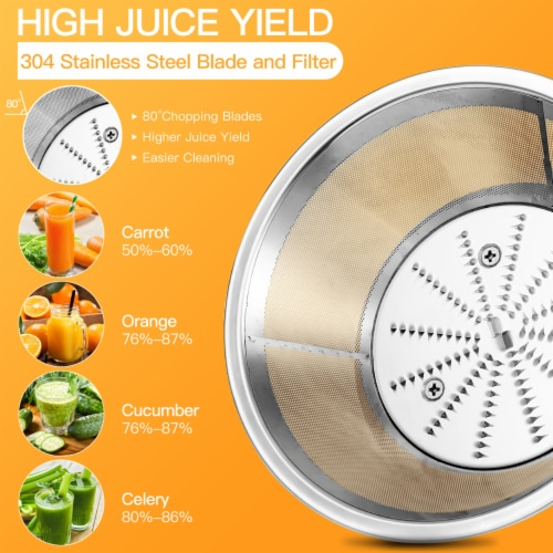 Costway Juicer Machine Centrifugal Juice Extractor Wide Mouth & 2 Speed BPA Free Perspective: right