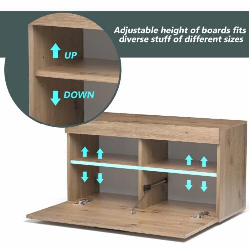 Costway Shoe Rack Storage Cabinet Storage Chest Organizer Entryway Bedroom Perspective: right