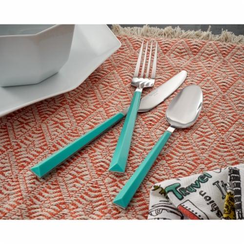 Hampton Forge Tomodachi Dali Flatware Set - Turquoise/Silver Perspective: right