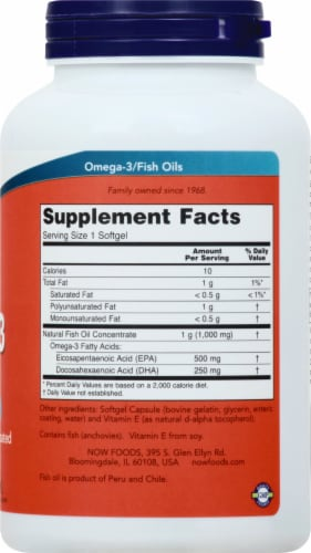 Now Ultra Omega 3 Fish Oil Softgels Perspective: right