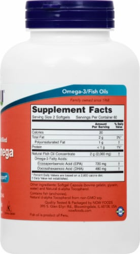 NOW Foods Super Omega EPA Softgels Perspective: right