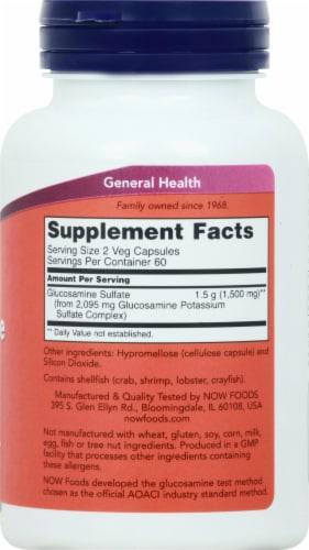 NOW   Glucosamine Sulfate Perspective: right