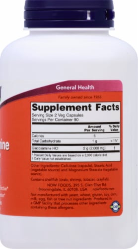 NOW Foods  Glucosamine '1000' Perspective: right