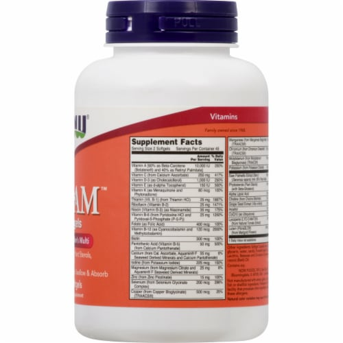 Now Adam Superior Mens Multi Softgels Perspective: right