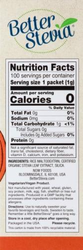 NOW Foods  BetterStevia™ Zero Calorie Sweetener   Original Perspective: right
