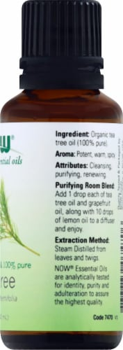 NOW Foods  Organic Essential Oils Tea Tree Perspective: right