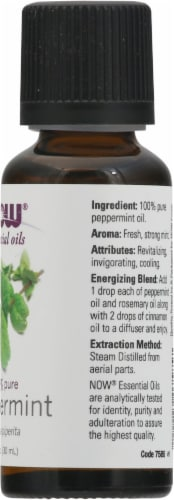 NOW Foods  Essential Oils Peppermint Perspective: right