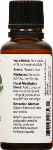 NOW Foods Rose Absolute Essential Oils Perspective: right