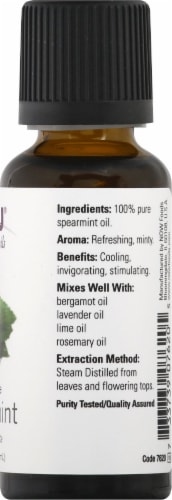 NOW Foods Spearmint Essential Oils Perspective: right