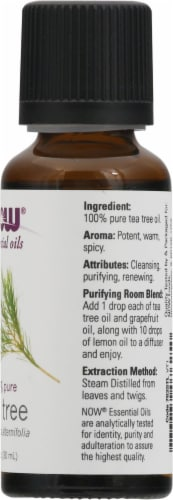 NOW Foods  Essential Oils Tea Tree Perspective: right