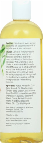 NOW Foods Solutions Lavender Almond Massage Oil Perspective: right