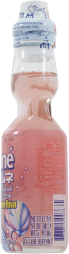 Ramune Strawberry Japanese Soda Perspective: right