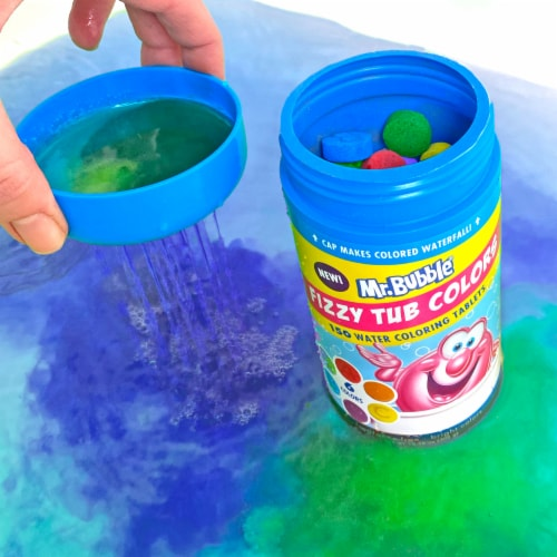 Mr. Bubble Fizzy Tub Water Coloring Tablets Perspective: right