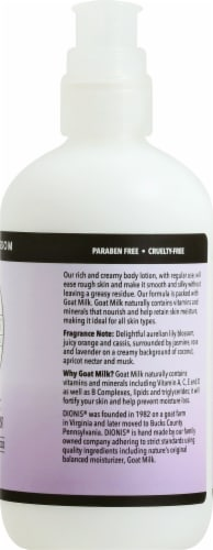 Dionis Lavender Blossom Goat Milk Body Lotion Perspective: right