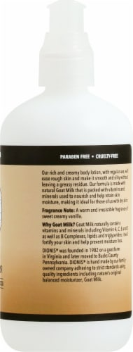 Dionis Vanilla Bean Goat Milk Body Lotion Perspective: right