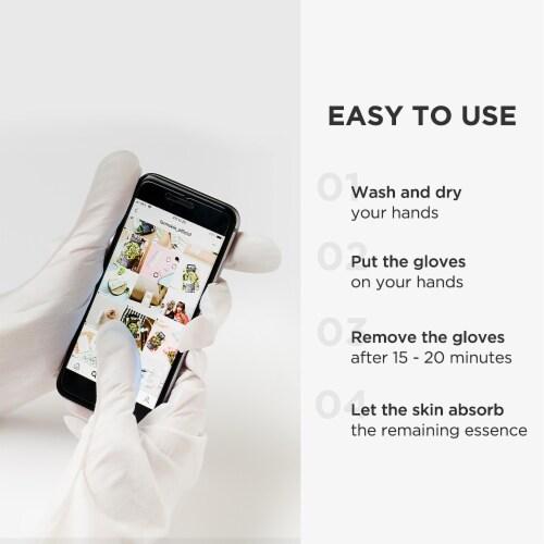Pick Up & Go 3 Sheets Moisturizing Orange Hand Mask Perspective: right