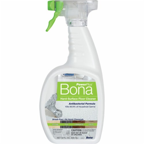 Bona  PowerPlus  Hard Surface Floor Cleaner  Liquid  32 oz. - Case Of: 8; Perspective: right