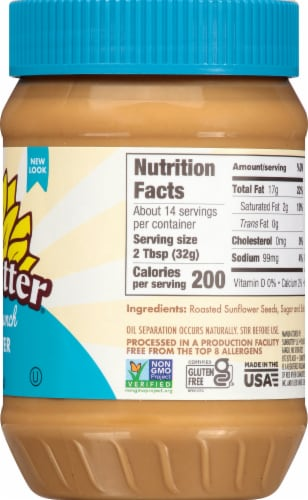 SunButter Natural Crunch Sunflower Seed Spread Perspective: right