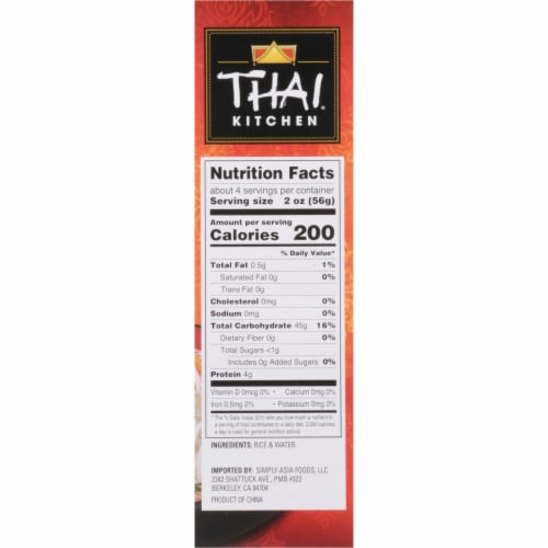 Thai Kitchen Thin Rice Noodles Perspective: right