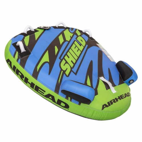 Airhead AHSH-T1 Shield Single Person Towable Inflatable Water Tube w/ 4 Handles Perspective: right