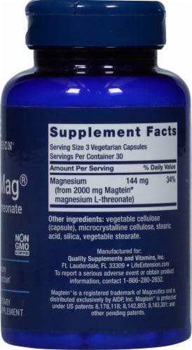 Life Extension Neuro-Mag Magnesium L-Threonate Vegetarian Capsules Perspective: right