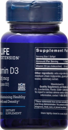 Life Extension Vitamin D3 Perspective: right