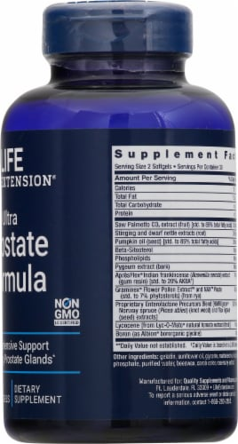 Life Extension Ultra Prostate Formula Softgels Perspective: right