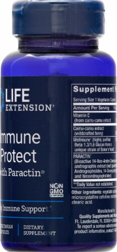 Life Extension Immune Protect with Paractin Vegetarian Capsules Perspective: right