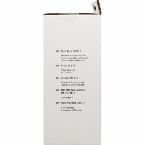 Socket Shelf - White Perspective: right