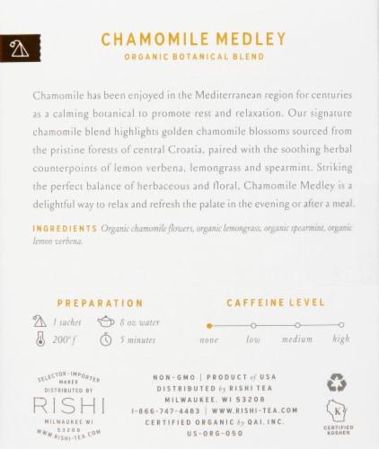 Rishi Tea Chamomile Medley Organic Botanical Blend Tea Sachets Perspective: right