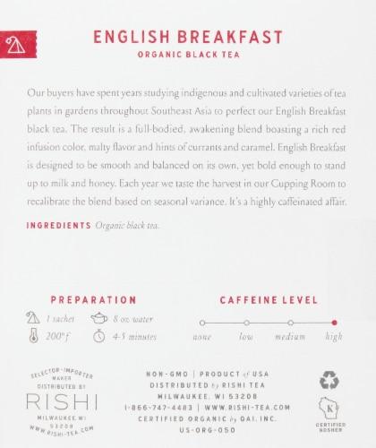 Rishi Tea Organic English Breakfast Black Tea Perspective: right