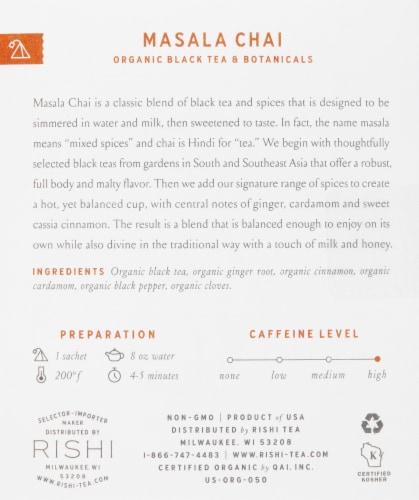 Rishi Tea Masala Chai Organic Black Tea & Botanicals Sachets Perspective: right