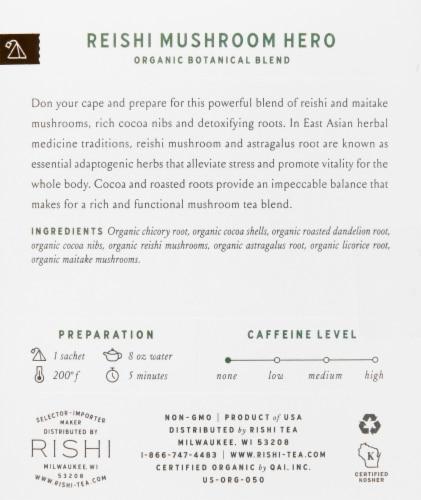 Rishi Organic Reishi Mushroom Hero Tea Sachets Perspective: right
