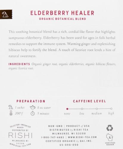 Rishi Tea Elderberry Healer Sachets Perspective: right