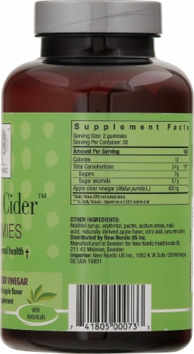 New Nordic® Apple Cider™ Dietary Supplement Gummies Perspective: right