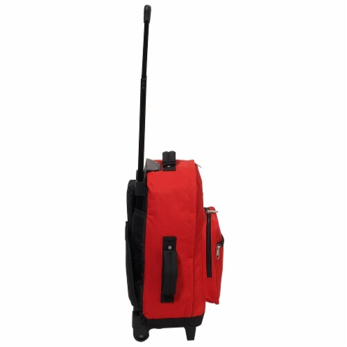 Everest Wheeled Backpack - Red/Black Perspective: right