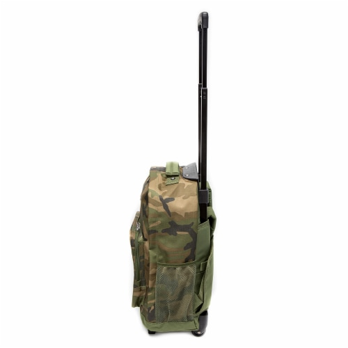 Everest Wheeled Backpack - Woodland Camo Perspective: right