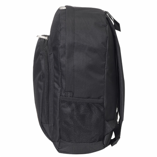 Everest Backpack with Front & Side Pockets - Black Perspective: right