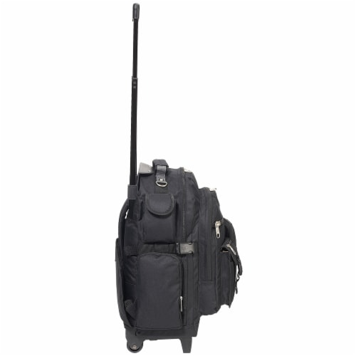 Everest Deluxe Wheeled Backpack - Black Perspective: right