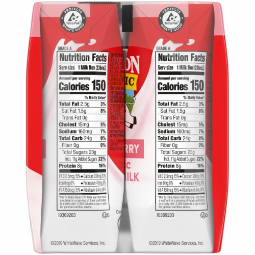 Horizon Organic Reduced Fat Strawberry Milk Perspective: right
