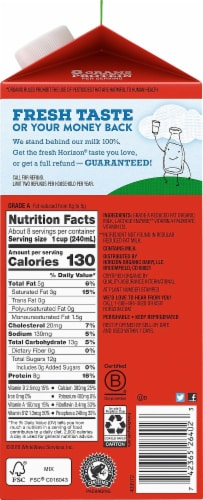 Horizon Organic Lactose-Free 2% Reduced Fat Milk Perspective: right