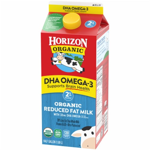 Horizon Organic DHA Omega-3 2% Reduced Fat Milk Perspective: right