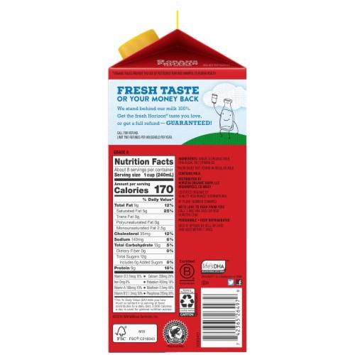 Horizon Organic DHA Omega-3 Vitamin-D Milk Perspective: right