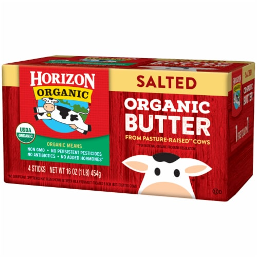 Horizon Organic Salted Butter 4 Count Perspective: right
