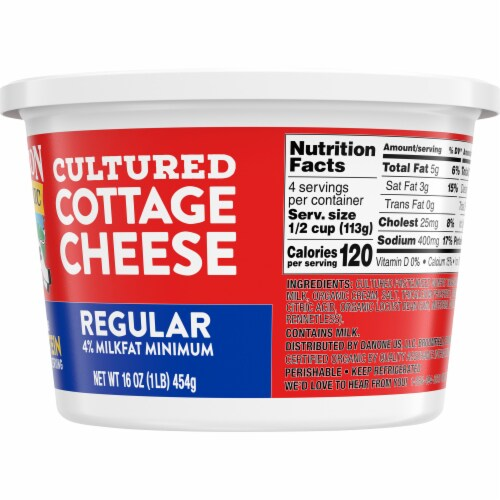 Horizon Organic Regular Cultured Cottage Cheese Perspective: right