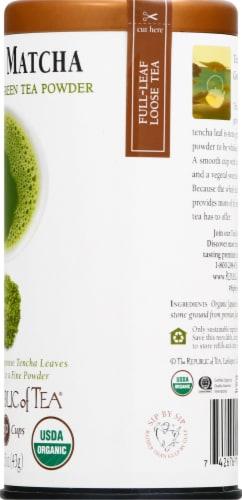The Republic of Tea Matcha Stone Ground Green Tea Powder Perspective: right