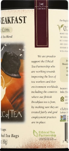 The Republic of Tea British Breakfast Tea Bags Perspective: right
