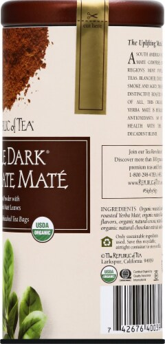 The Republic of Tea Double Dark Chocolate Mate Tea Bags Perspective: right
