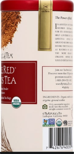 The Republic of Tea Double Red Rooibos Tea Bags Perspective: right