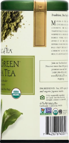 The Republic of Tea Double Green Matcha Tea Bags Perspective: right
